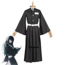 Demon Slayer: Kimetsu no Yaiba Tokitou Muichirou форменные Топы Kendo Брюки Наряд аниме костюмы для косплея