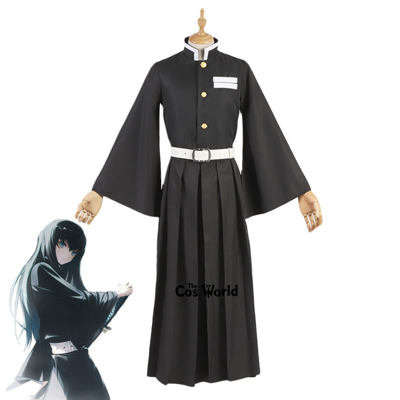 Demon Slayer: Kimetsu No Yaiba Tokitou Muichirou Uniform Tops Kendo Pants Outfit Anime Cosplay Costumes