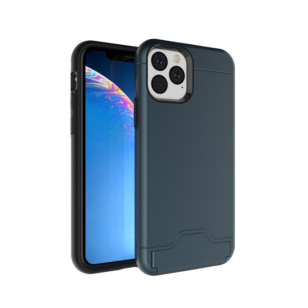 Brushed Armor Card Holder Case for iPhone 11/11 Pro/11 Pro Max 10
