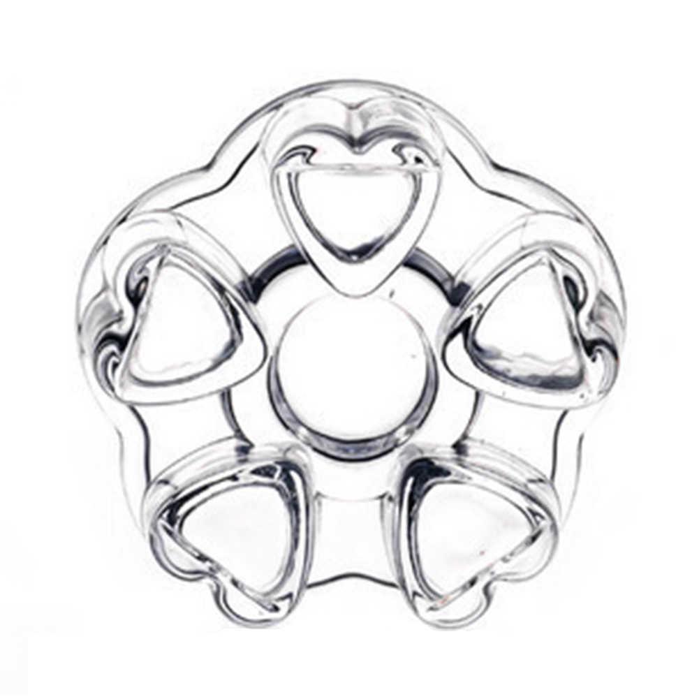 Forma do coração resistência ao calor de vidro flor bules aquecedor cafeteira base de aquecimento calor-oposição bules de chá mais quente base de copo claro