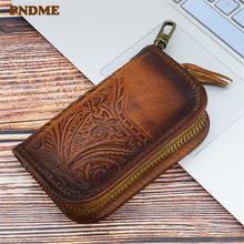 Винтажный дизайнерский тисненый кошелек для ключей pndme из