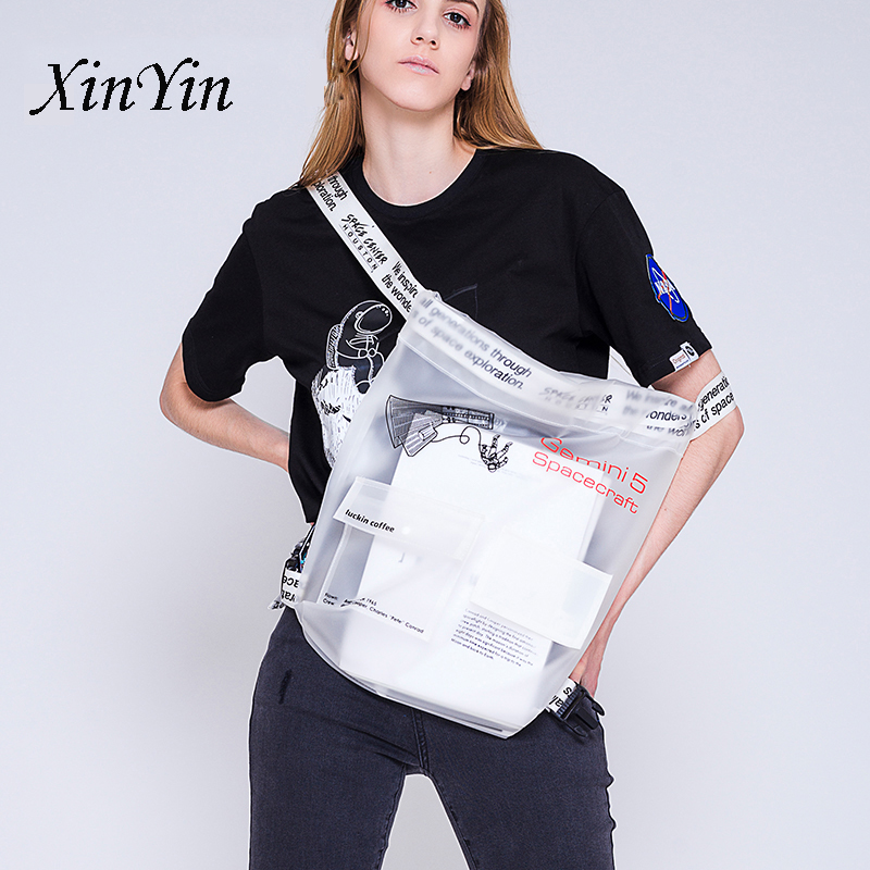 Fashion TPU Space Travel Youth Backpack Unisex Personality Drawstring Bag Storage Bagpack White Sport Fitness Bag Hip-hop Cool