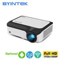 BYINTEK Full HD Projektor M1080,1920x1080P, Smart (2GB + 16GB) android WIFI Beamer, Tragbare FÜHRTE Mini Projektor für 3D 4K Kino