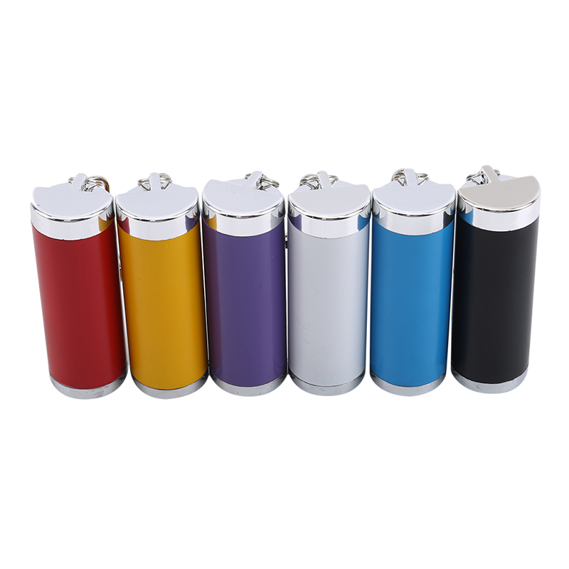 New Multicolor Useful Portable Pocket Metal Outdoor Cigarette Ashtray With Keychain