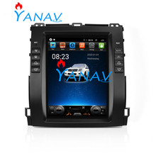 Android Tesla Radio Car Multimedia Player GPS Navigation For Toyota-Land Cruiser Prado 2002-2009 Vertical Touch Screen Radio Dvd