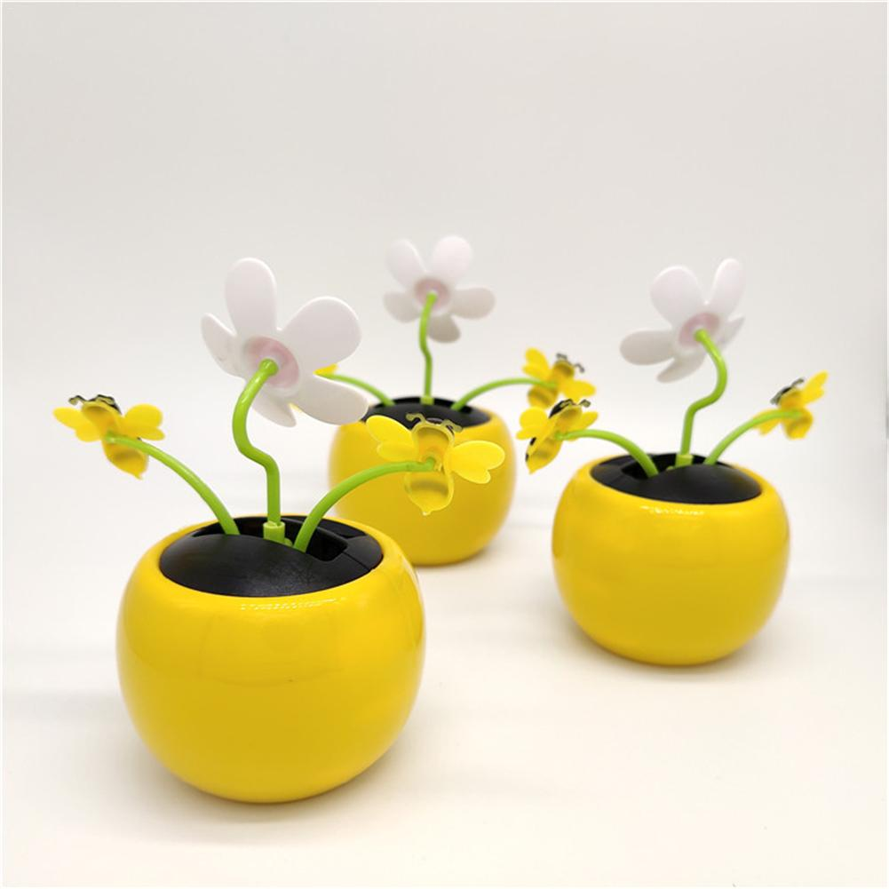 New Solar Powered Flip Flap Dancing Bee Flower Can Swing Automatically By Sunlight For Decor Dancing Flower Toy Gift Fashion