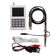 1 conjunto digital handheld osciloscópio 5m largura de banda 20msps taxa de amostragem mini tamanho dso pro osciloscópio com p6100 osciloscópio pro