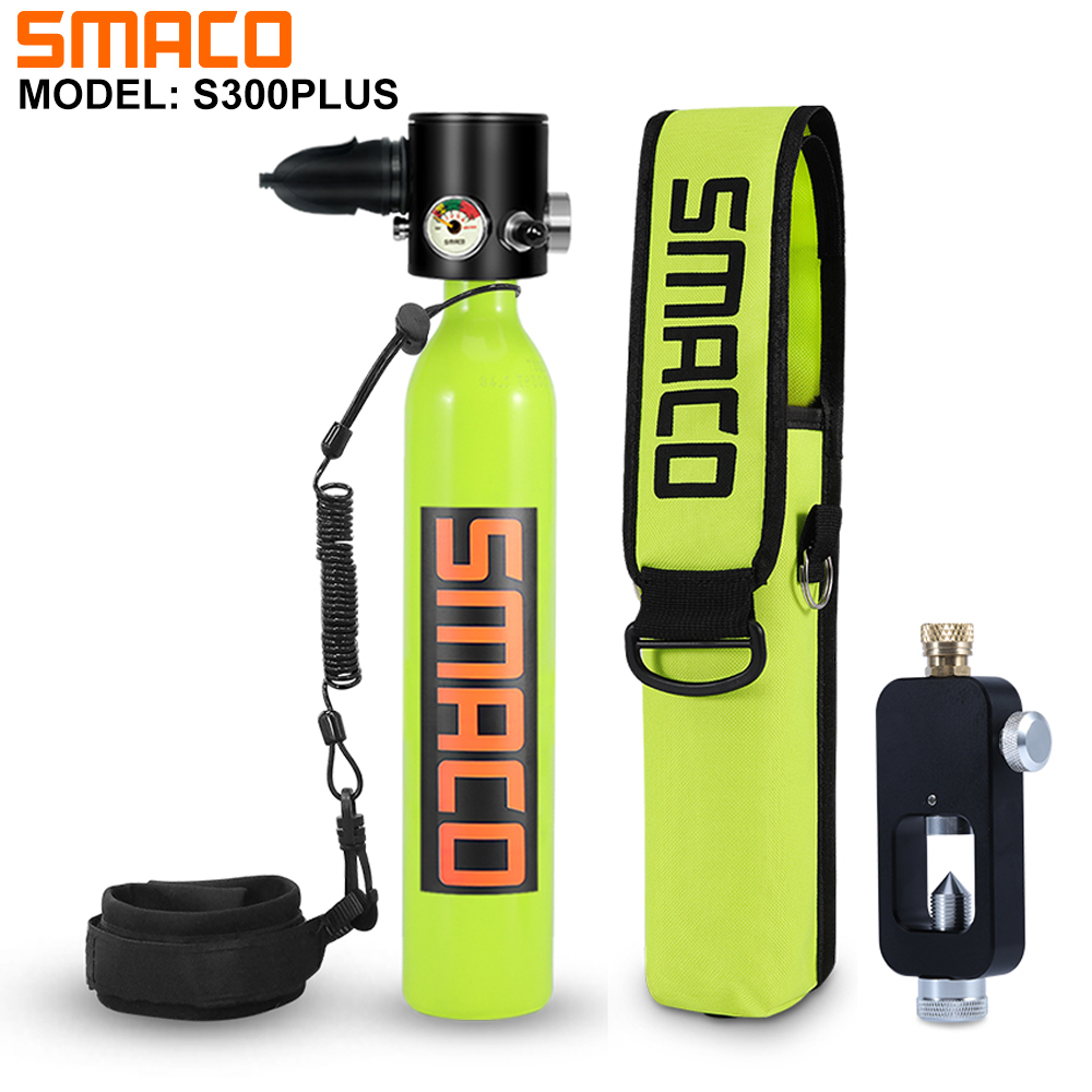 Smaco S300 Scuba Diving Equipment Capacity 0.5L Time 10 Min Snorkeling Set Easily Use Underwater Scuba Diving Tank Oxygen