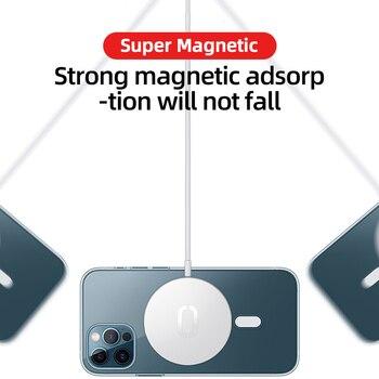 Прозрачный Магнитный чехол Joyroom для телефона iPhone 12 Pro Max 12 Mini 5