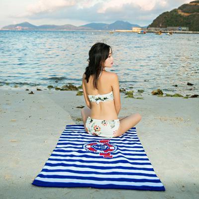 Quick-Drying Beach Towel Bath Towel Sun-resistant Circle Beach Mat Seaside Shawl Donuts Shawl Holiday Wrap Skirt Large Towel