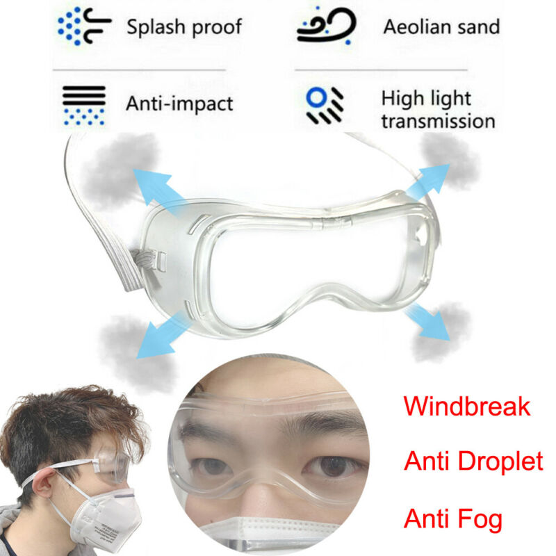 Safety Goggles Adjustable Protective Transparent Safty Goggles Glasses Anti Splash Dust Fully Sealed For Industrial Lab Work