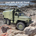 Wpl B36 Ural Truck Schaal Model Wpl 1:16 Rc Army Truck 2.4G 6WD Rc Auto Off-Reed Remote controle Militaire Vrachtwagens Rock Crawler