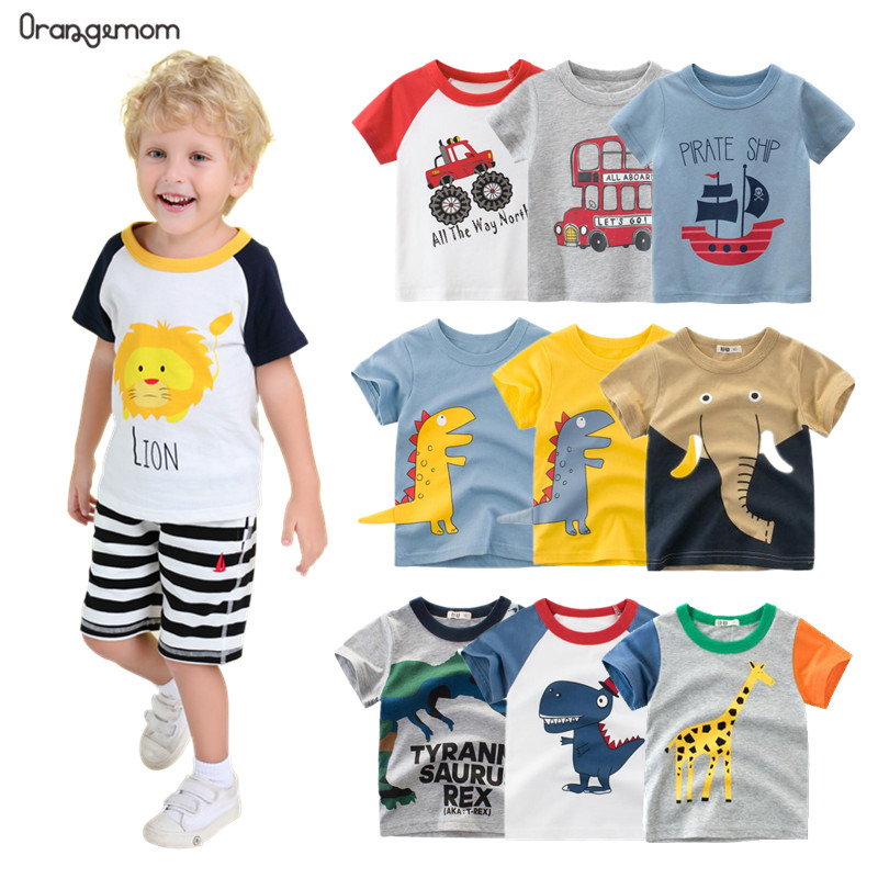 Orangemom Anime 2020 Summer Children's Clothing Boys Short Sleeve T-shirt  Kids Sweatshirt Child's Cotton Clothes Boys T Shirt