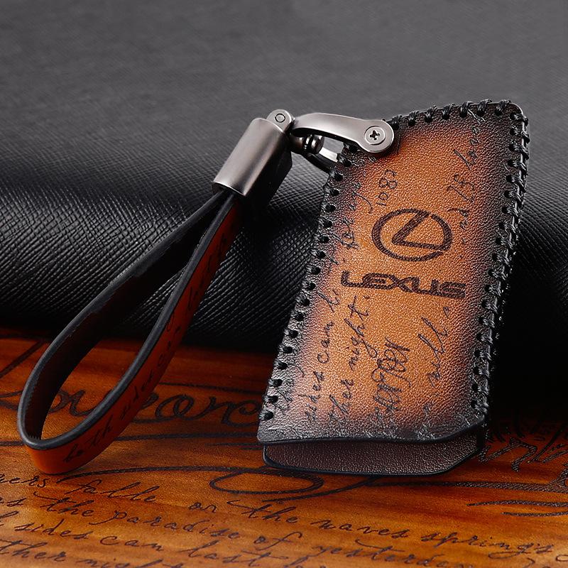 Genuine Leather Key Case Cover Car Accessorie for Lexus Es250 Is300 Rx270 rx450 Nx300 Ls460 Ct200h Ux260 Gx470 gx460 Lx570 Gs300