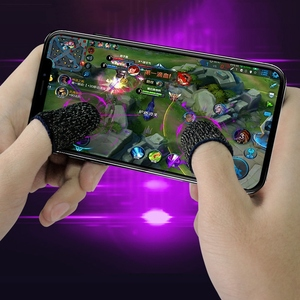 Image 4 - Nouveau 1 paire respirant Mobile doigt manchon presse déclencheur jeu contrôleur gants anti transpiration pour PUBG téléphone Mobile Gaming