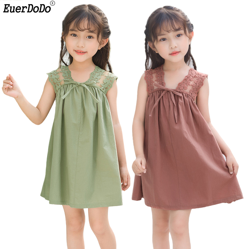 Girls Dress Sleeveless Backless Lace Princess Dress For Children Girl Party Dress Kids Dresses For Girls 2 3 5 4 6 7 8 9 10 12Y