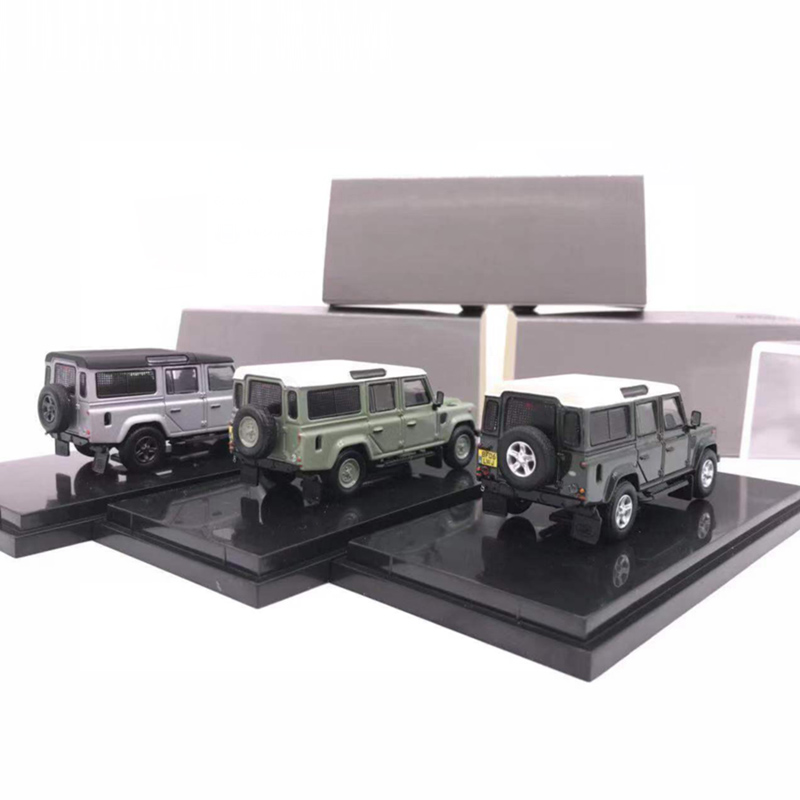 Time Model 1/64 Off-Road Defender 110 Alloy Diecast Luxury Die-cast Toy 1:64 Model Car Vehicle SUV With Case