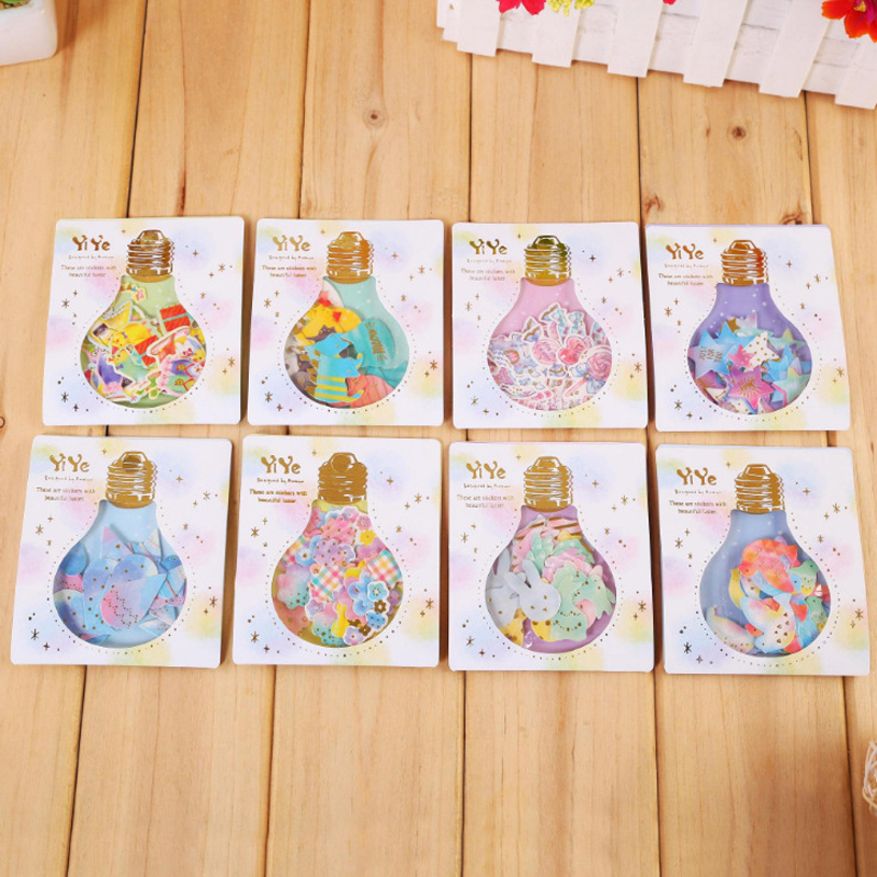 30pcs /Pack Cute Star Rabbit Horse Bird Mini Adhesive Reflet Stickers DIY Decorative Stick Lable Envelope Stickers Stationery