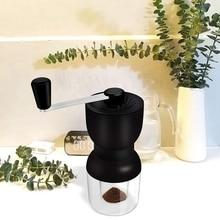Горячая ручная кофемолка с керамическими заусенцами, LHS ручная кофейная мельница с двумя контейнерами Регулируемая грубость многоразовые крышки