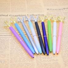 Metal Ballpoint Pen for Fashion Girl with 19 Carat Large Diamond Material Escolar Bolis Escolares Kawaii Novelty Gift