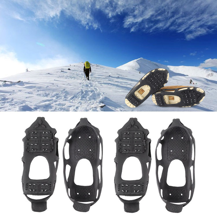 Ice-Gripper Boot Shoes Crampons Anti-Slip Climbing Cleats-Chain Claws Spike Outdoor