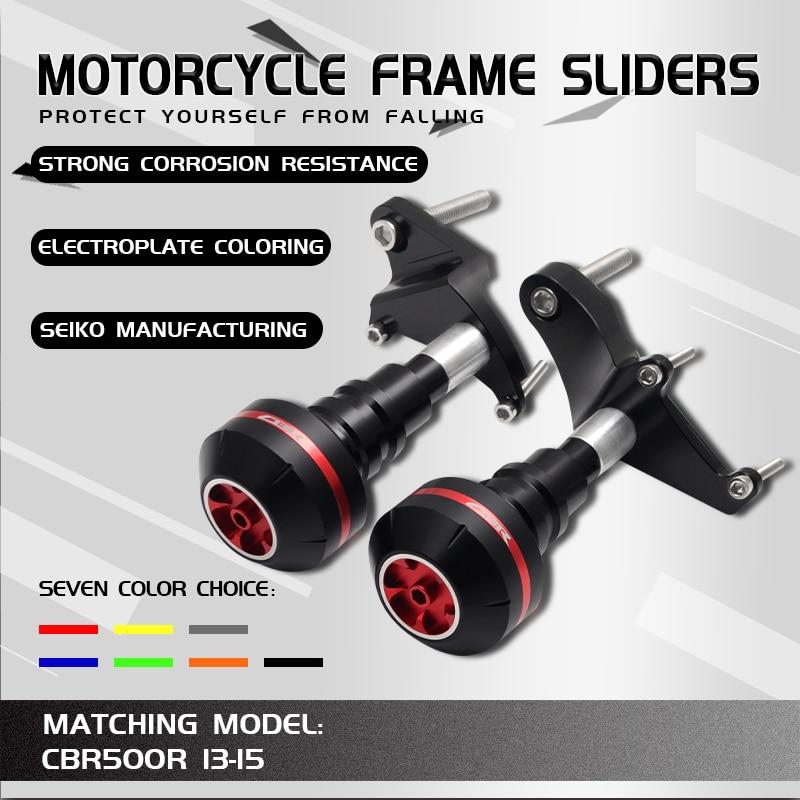 Motorcycle CNC Crash Pad Frame Slider Protection Guard For CBR500 R CBR500R CBR 500R 2013 2014 2015 13 14 15