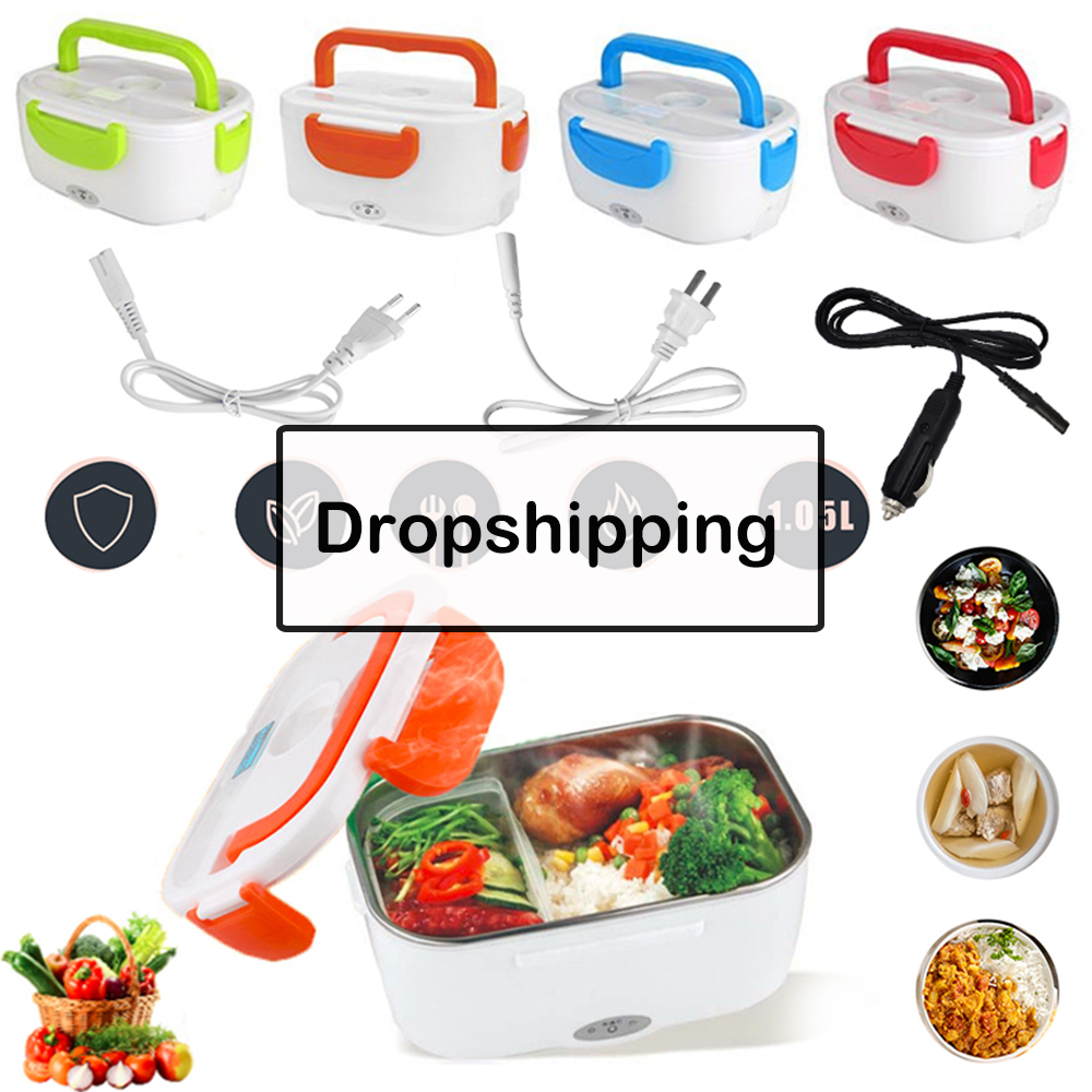 1.05L 220V 40W Portable Electric Lunch Box Food-Grade Bento Lunch Box Heating Container Food Warmer For Kids EU US GB Plug