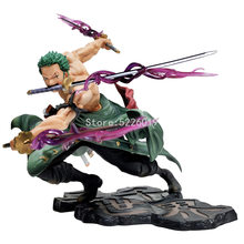 12cm One Piece Anime Figure New World Roronoa Zoro Straw Hat Classic Battle Action Figure One Piece Zoro Figurine Model Toys