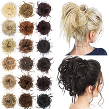 Ponytail Hairpiece Bun-Hair-Extension Scrunchies Updo Messy Elastic Women with Rubber
