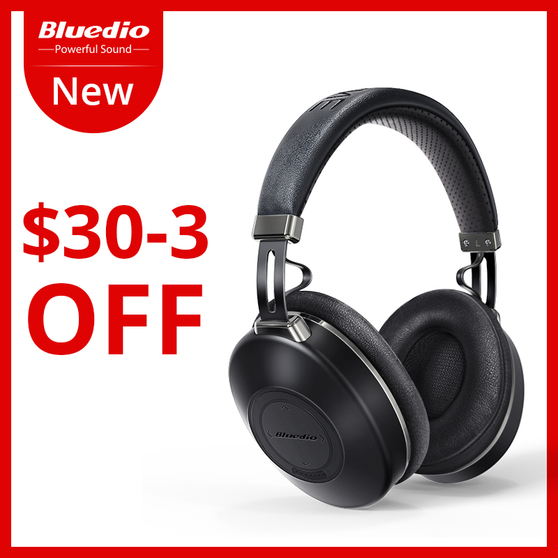 Bluedio H2 Bluetooth Headphones ANC Wireless Headset HIFI sound Step Counting SD Card Slot Cloud Function Smart APP