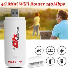 Разблокированный 4G Роутер LTE wifi беспроводной USB ключ широкополосный модем 150 Мбит/с портативный автомобильный wifi роутер Точка доступа