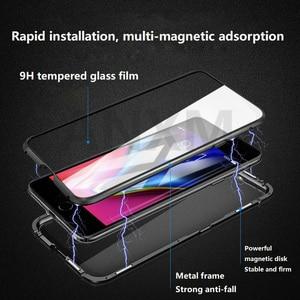 Image 3 - Metal magnetyczny etui do iphone X X Xs 11 Pro Max szkło hartowane z powrotem magnes skrzynki pokrywa dla iphone 6 6S 7 8 Plus skrzynki pokrywa