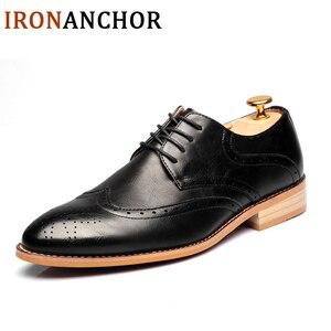 Image 2 - 2020 גברים עור נעליים מזדמנים עור אמיתי אופנה באיכות גבוהה יוקרה מעצב גברים מבטא אירי נעלי