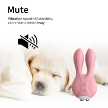 купить double rabbit Jump Egg Vibrator Clitoral G-Spot masturbation sex product Bullet remote control vibrating Sex Toys for Women по цене 919.65 рублей
