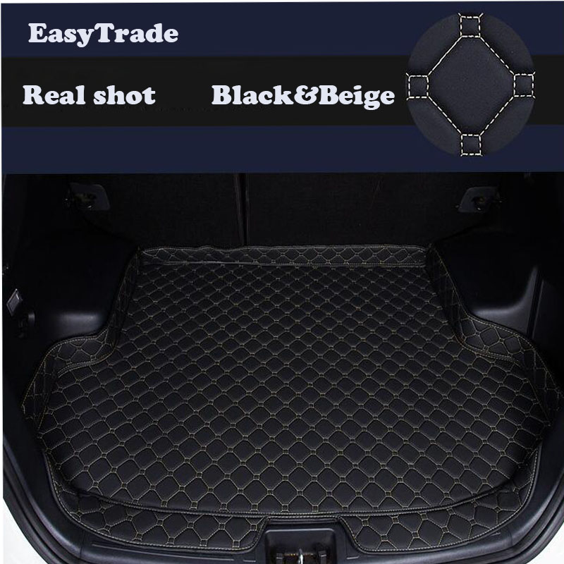 Car Trunk Mats Liner Carpet Guard Protector Goods For Hyundai Kona 2018 2017 2019 Car Interior Styling Accessories