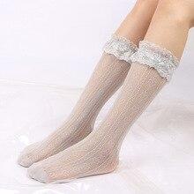 2 pairs of 2019 spring new fashion  Lolita lace love calf hollow female soft cute long net pile socks