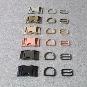 20 наборов, 25 мм, сверхмощный металлический боковой зажим, застежка, D кольца, слайдер для сумки, ранец, ошейник для собаки, Паракорд, Швейные а...