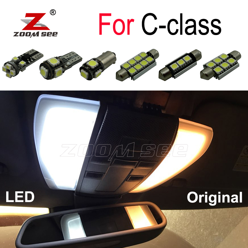 Perfect Canbus White <font><b>LED</b></font> bulb interior dome Light Kit For Mercedes Benz C class <font><b>W202</b></font> W203 W204 S202 S203 S204 C203 C204 (93-14) image