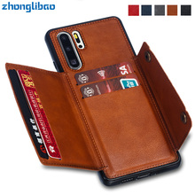 Fundas Hawei P30 Pro Card Holders Wallet Case for H