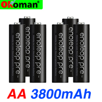 battery primary battery Pro AA 3800 MAH 1.2 V NI-MH camera flashlight toy preheated rechargeable battery