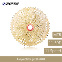 ZTTO Mountain Bike MTB 11 Speed Cassette 11S 50T Bicycle Parts Gold Golden Wide Ratio Freewheel Sprocket For GX XX1 M8000 621g