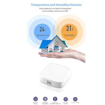 цена на Temperature Humidity Probe Wifi Switch Zigbee Sensor Extension Monitoring Temperature Humidity Probe Timer for Google Home Alexa