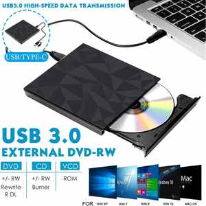 Driver Player Writer-Reader Cd-Burner DVD-RW Type-C External Usb-3.0 High-Speed