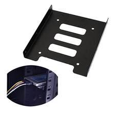 2.5 Polegada ssd hdd para 3.5 Polegada suporte adaptador de montagem de metal doca disco rígido titular para gabinete de disco rígido pc