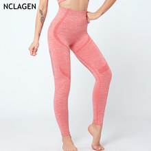 NCLAGEN Frauen Fitness Yoga Hose Nahtlose Push-Up Hohe Taille Laufhose Crz Workout Hohe Taille Capris GYM Training Leggings(China)