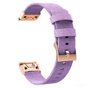 Image 5 - YOOSIDE for Fenix 6S Wristband 20mm Quick Fit Woven Nylon Canvas Watch Band Strap for Garmin Fenix 5S/5S Plus/Fenix 6S Pro