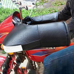 Czarny zagęścić aksamitne ciepłe motocykl jazda na rowerze jazda na rowerze uchwyt rękawiczki wodoodporna wiatroszczelna ciepłe zimowe kierownica nauszniki podgrzewacze 2019