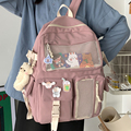 Нейлоновый женский рюкзак JOYPESSIE Kawaii, Модный водонепроницаемый рюкзак для девочек-подростков, школьная сумка, милый студенческий рюкзак, дор...