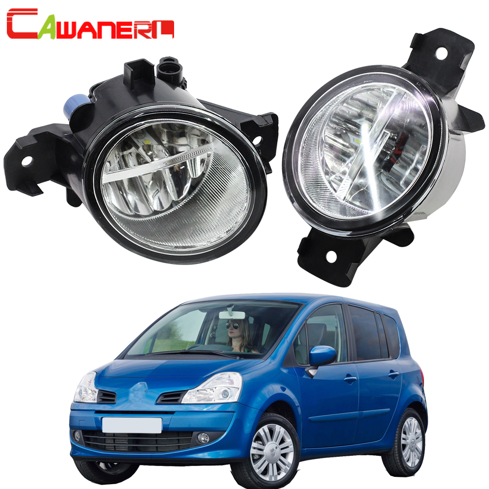 Cawanerl 2 Pieces Car H11 4000LM <font><b>LED</b></font> Light Right + Left Fog Light DRL Daytime Running Lamp 12V For <font><b>Renault</b></font> Grand <font><b>Modus</b></font> 2004-2013 image