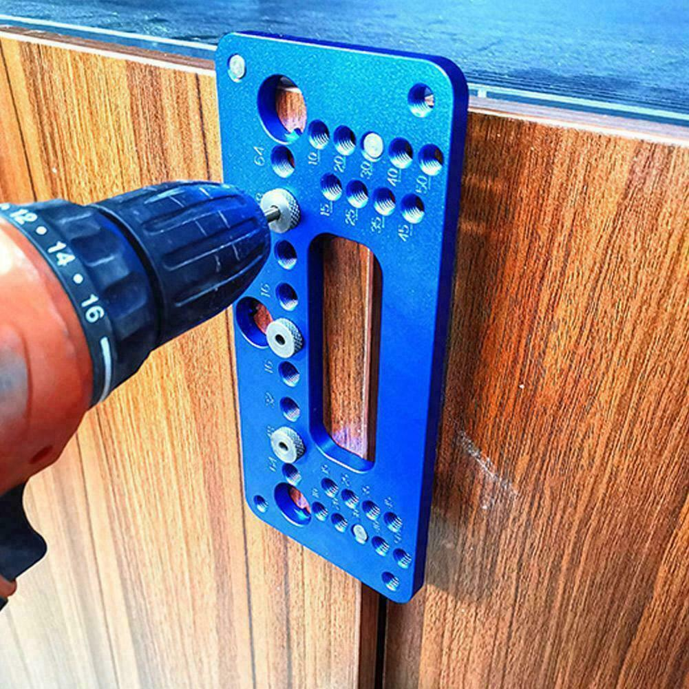 DIY Woodworking Drilling Locator Wardrobe Door Cabinet Positioner Handle Punch Locator Drill Guide Sleeve